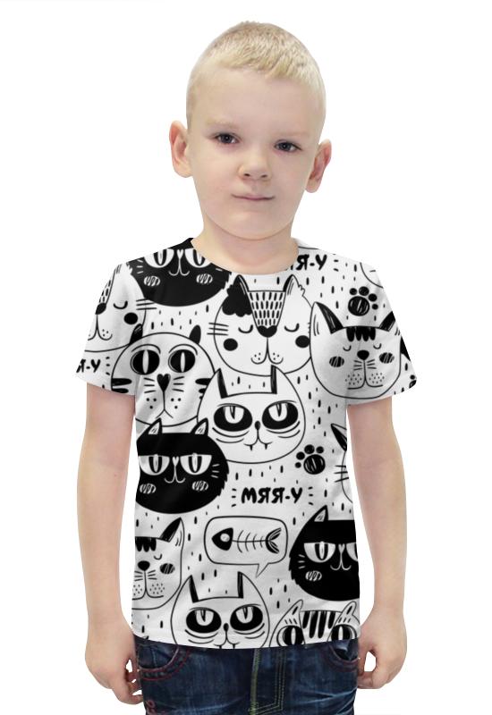 Футболка с полной запечаткой для мальчиков Printio Котики футболка с полной запечаткой для мальчиков printio пртигр arsb
