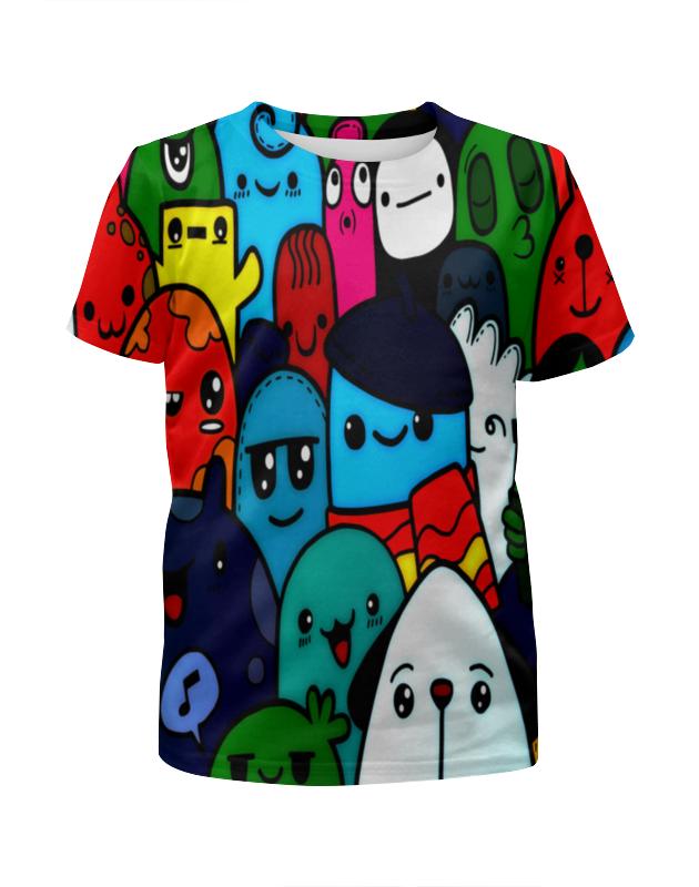 Футболка с полной запечаткой для мальчиков Printio Цветные смайлы футболка с полной запечаткой для мальчиков printio цветные кошки