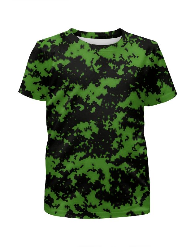 Printio Зеленый камуфляж футболка с полной запечаткой для мальчиков printio яркий зеленый