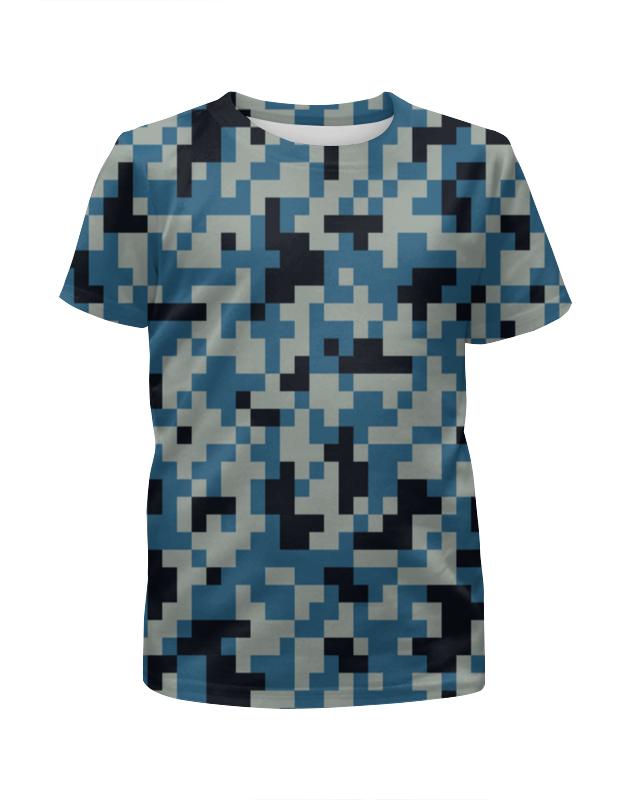 Printio Голубой камуфляж футболка с полной запечаткой для девочек printio голубой камуфляж