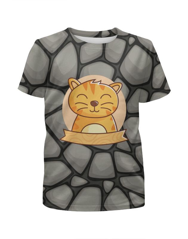 Футболка с полной запечаткой для мальчиков Printio Спящий  котёнок футболка с полной запечаткой для мальчиков printio bats spawn arsb