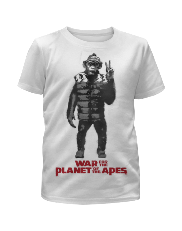 Футболка с полной запечаткой для мальчиков Printio Планета обезьян / planet of the apes футболка стрэйч printio обезьяны не убивают планета обезьян