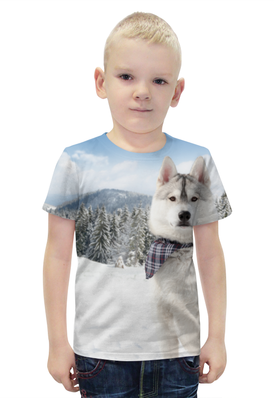 Футболка с полной запечаткой для мальчиков Printio Хаски футболка с полной запечаткой для мальчиков printio slove arsb