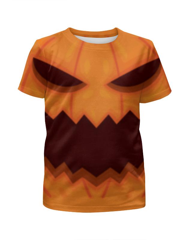 Футболка с полной запечаткой для мальчиков Printio Тыква хеллоуин