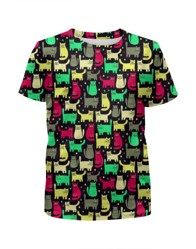 Футболка с полной запечаткой для мальчиков Printio Котики футболка с полной запечаткой для мальчиков printio спящие котики