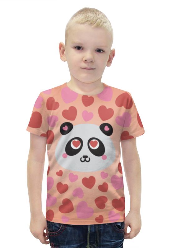 Футболка с полной запечаткой для мальчиков Printio Влюбленная панда футболка с полной запечаткой для мальчиков printio панда