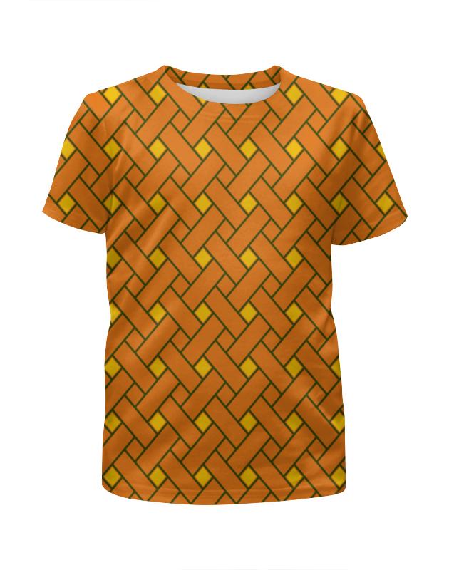 Футболка с полной запечаткой для мальчиков Printio Оранжевые линии футболка с полной запечаткой женская printio линии