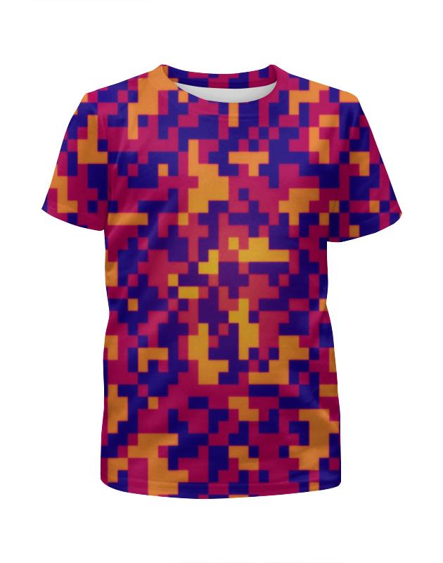 Футболка с полной запечаткой для мальчиков Printio Пиксели ночь футболка с полной запечаткой для мальчиков printio bats spawn arsb