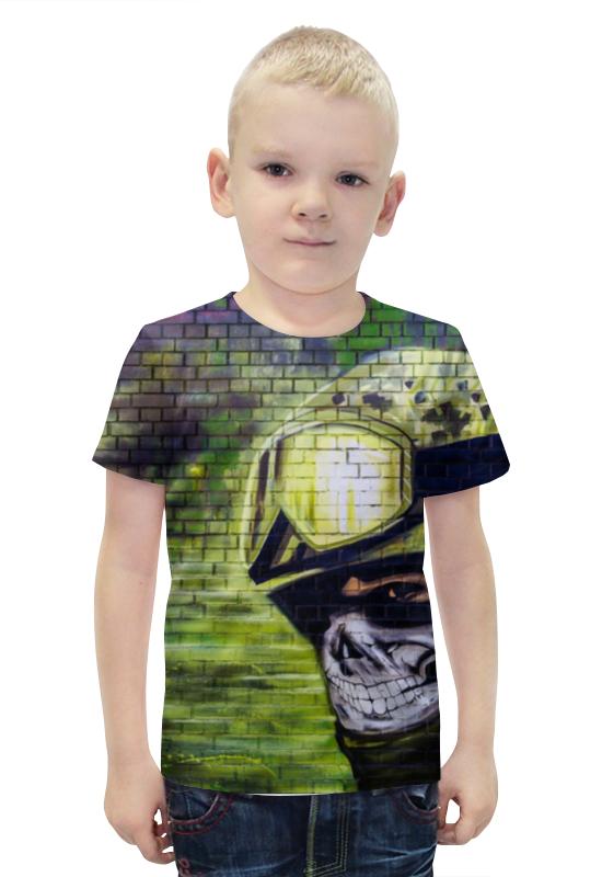 Футболка с полной запечаткой для мальчиков Printio Солдат футболка с полной запечаткой для мальчиков printio bats spawn arsb