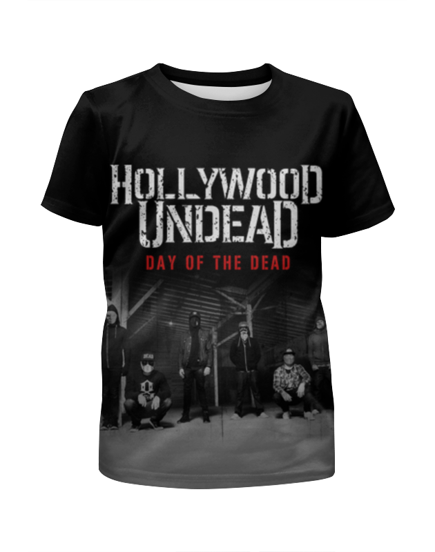 Футболка с полной запечаткой для мальчиков Printio Hollywood undead - day of the dead poems of the dead and undead