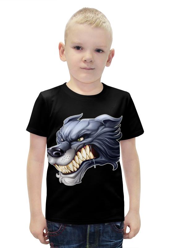 Футболка с полной запечаткой для мальчиков Printio Волк футболка с полной запечаткой для мальчиков printio bats spawn arsb