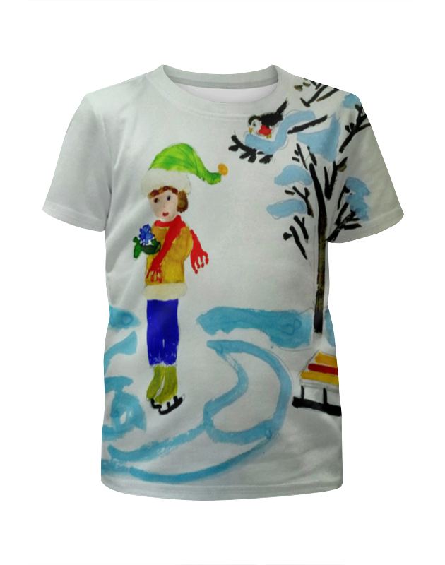 Футболка с полной запечаткой для мальчиков Printio Зимние забавы детская футболка классическая унисекс printio зимние забавы