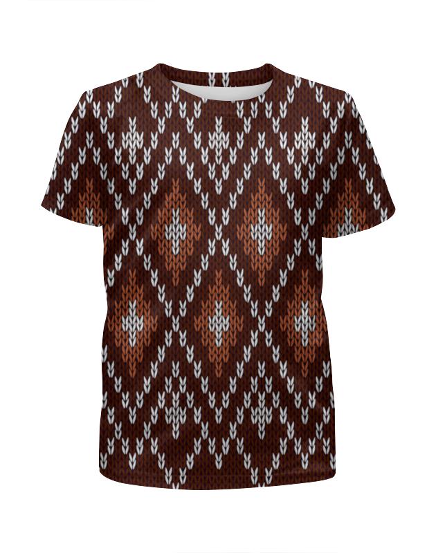 Футболка с полной запечаткой для мальчиков Printio Коричневый узор футболка с полной запечаткой для мальчиков printio футбольная мозайка фернандо торрес