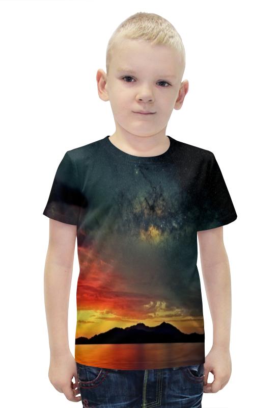 Футболка с полной запечаткой для мальчиков Printio Закат футболка с полной запечаткой для мальчиков printio bats spawn arsb