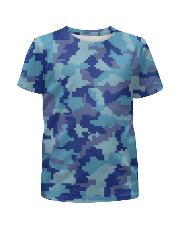 Футболка с полной запечаткой для мальчиков Printio Голубые пиксели футболка с полной запечаткой для мальчиков printio bats spawn arsb