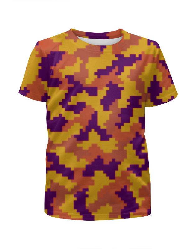 Футболка с полной запечаткой для мальчиков Printio Камуфляж нано футболка с полной запечаткой для мальчиков printio bats spawn arsb