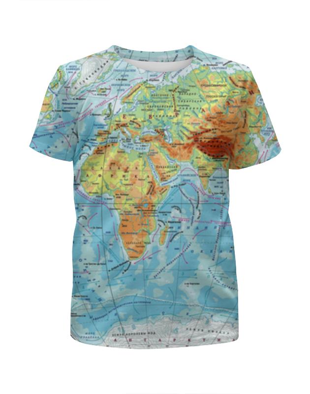 Футболка с полной запечаткой для мальчиков Printio Карта мира футболка с полной запечаткой для мальчиков printio ночь всех святых