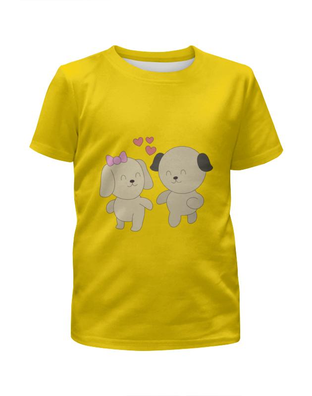 Футболка с полной запечаткой для мальчиков Printio Влюблённые собачки футболка с полной запечаткой для мальчиков printio фруктовая