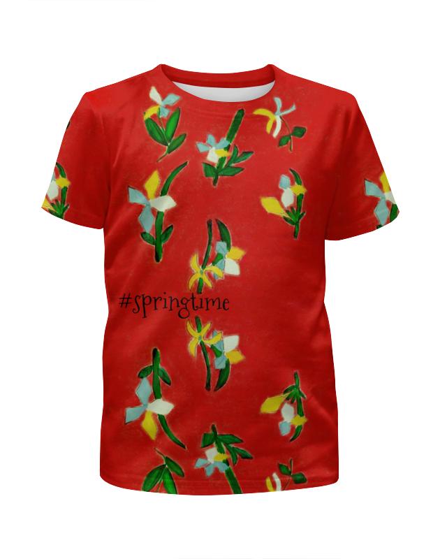 Футболка с полной запечаткой для мальчиков Printio Весна, весна юбка карандаш printio весна весна
