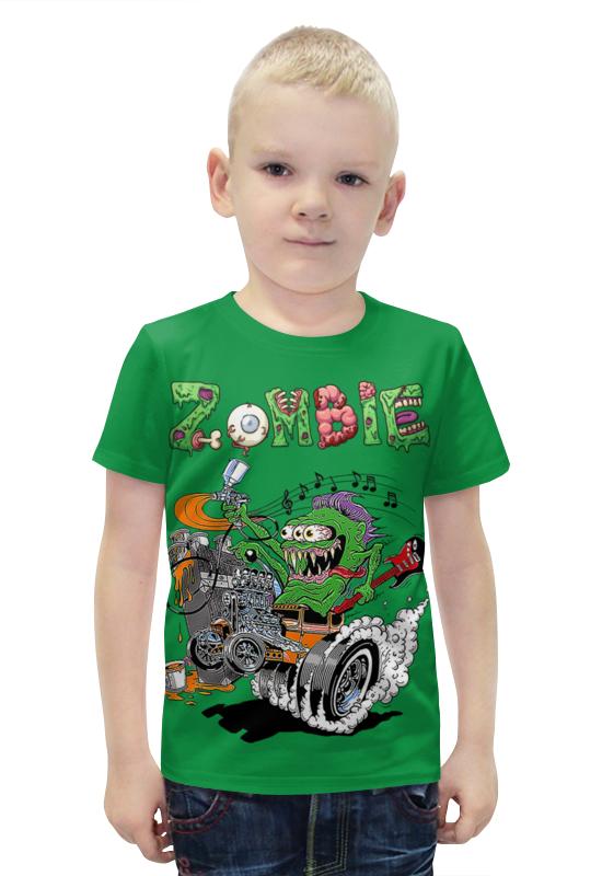 Футболка с полной запечаткой для мальчиков Printio Zombie футболка с полной запечаткой для мальчиков printio bats spawn arsb
