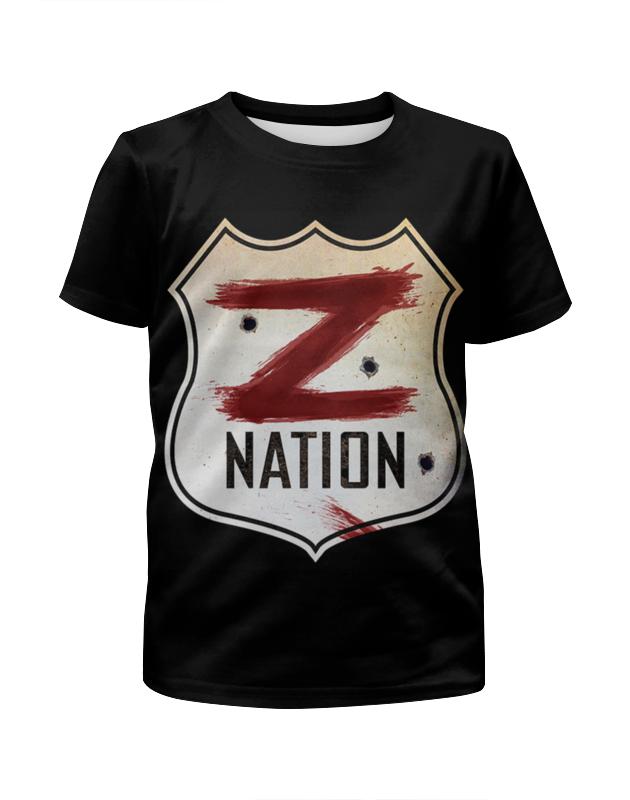 Футболка с полной запечаткой для мальчиков Printio Нация z / z nation свитшот print bar нация z