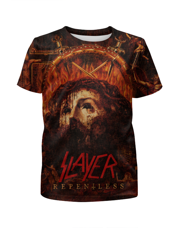 Футболка с полной запечаткой для мальчиков Printio Slayer repentless 2015 (1) футболка с полной запечаткой мужская printio slayer repentless 2015 3