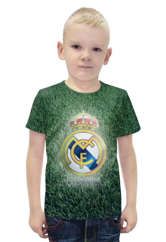 Футболка с полной запечаткой для мальчиков Printio Реал мадрид