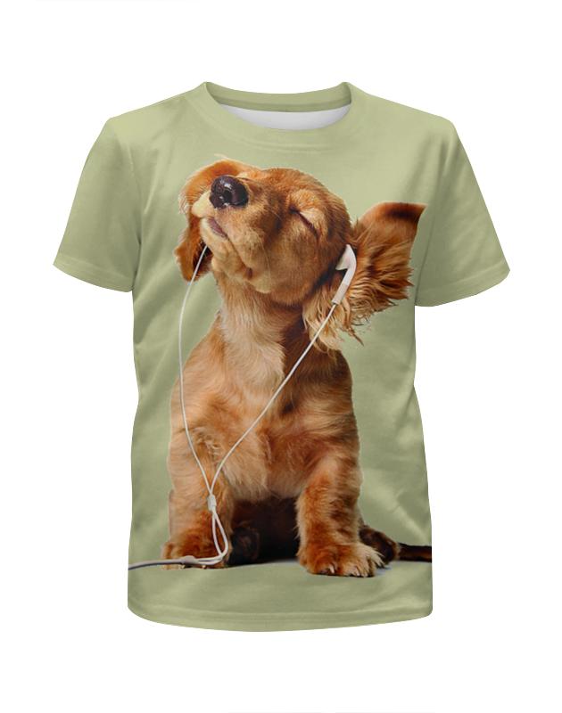 Футболка с полной запечаткой для мальчиков Printio Собака меломан футболка с полной запечаткой для мальчиков printio собака