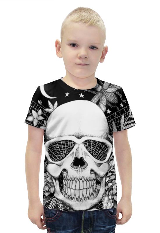 Футболка с полной запечаткой для мальчиков Printio Череп футболка с полной запечаткой для мальчиков printio bats spawn arsb