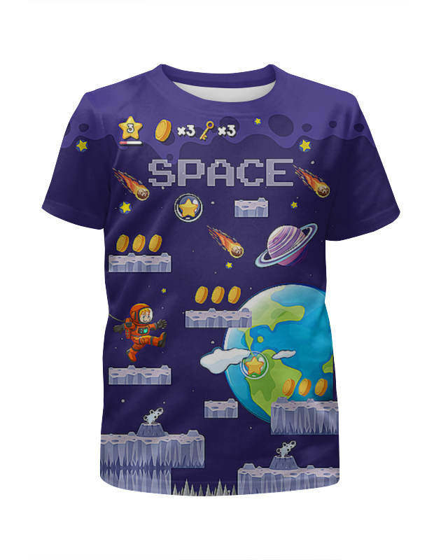 Футболка с полной запечаткой для мальчиков Printio Space ostin футболка для мальчиков