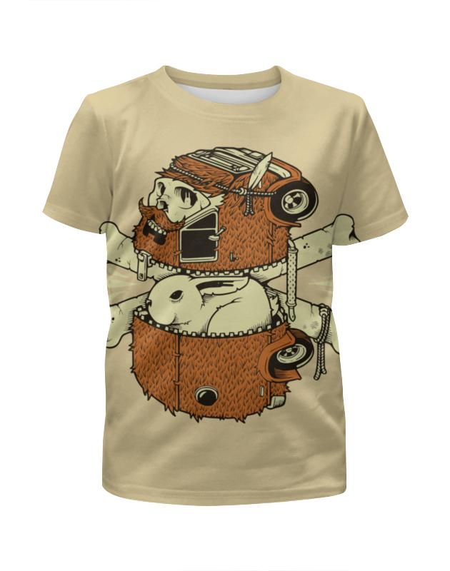 Футболка с полной запечаткой для мальчиков Printio Rabbit scull / кролик и череп цена