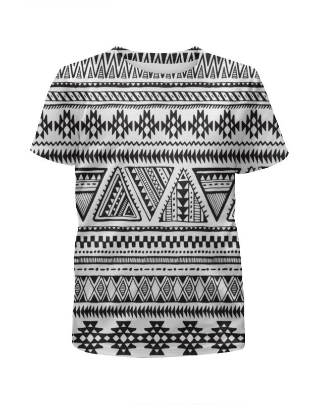 Футболка с полной запечаткой для мальчиков Printio Черно-белая графика футболка белая с принтом ido ут 00004169