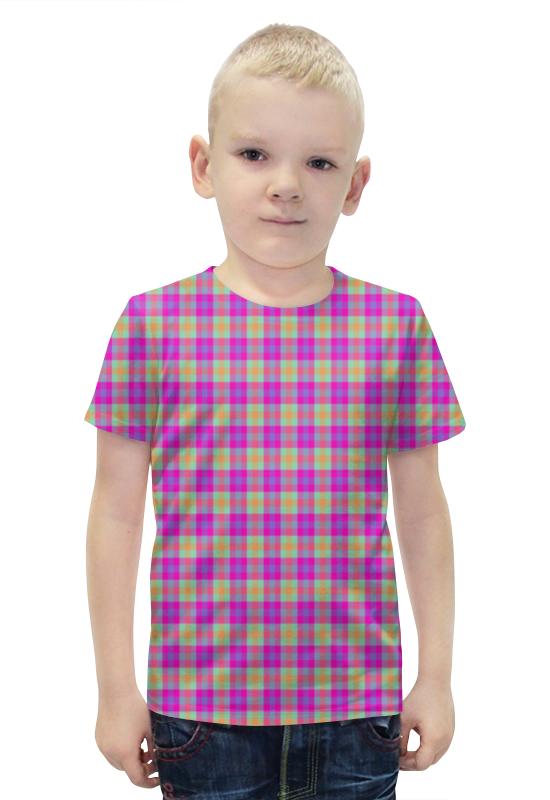 Футболка с полной запечаткой для мальчиков Printio Текстура ткани в цветную клеточку купить цветную плнку для тонировки фар
