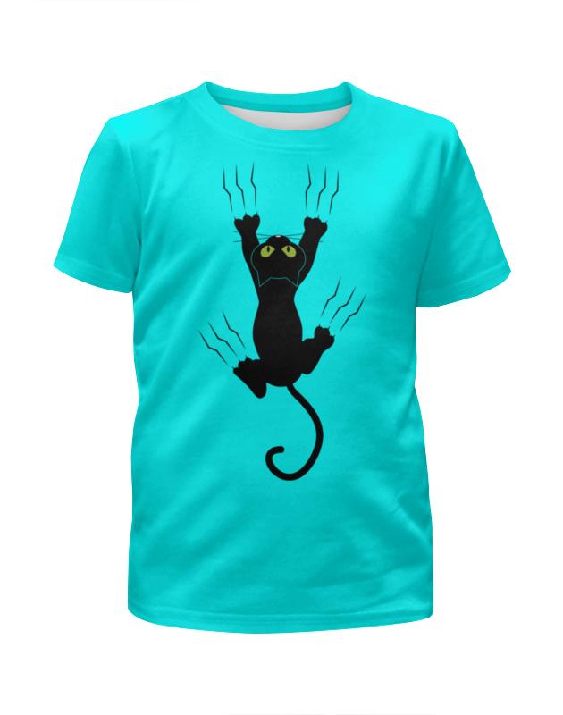 Футболка с полной запечаткой для мальчиков Printio Прикольный кот футболка с полной запечаткой для мальчиков printio bats spawn arsb