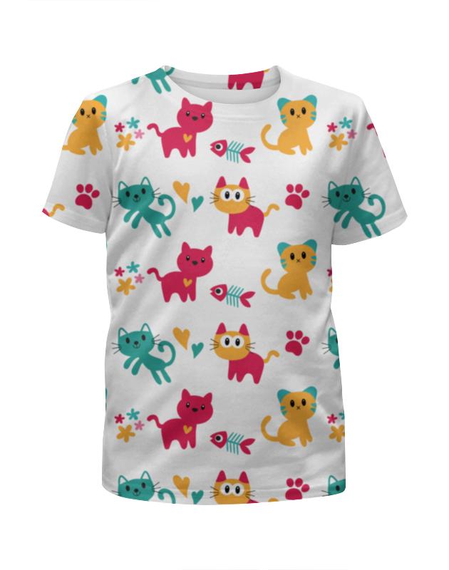 Футболка с полной запечаткой для мальчиков Printio Весёлые котята футболка с полной запечаткой для мальчиков printio сланцы