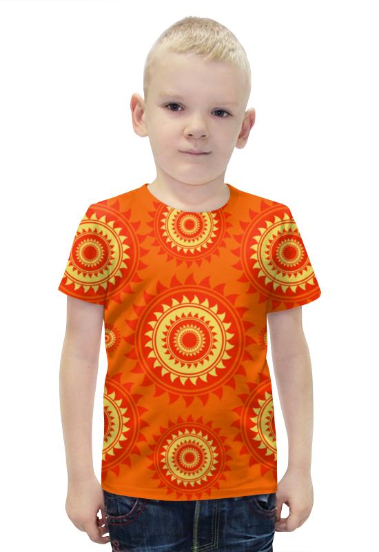 Футболка с полной запечаткой для мальчиков Printio Солнце футболка с полной запечаткой для мальчиков printio bats spawn arsb