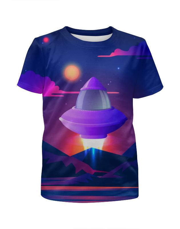 Футболка с полной запечаткой для мальчиков Printio Космический корабль цена