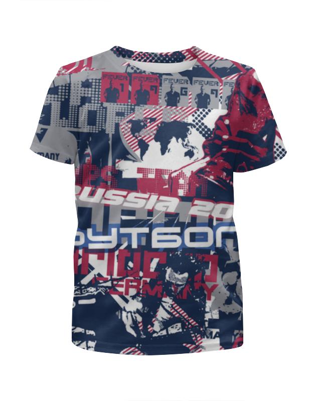 Футболка с полной запечаткой для мальчиков Printio Футбол 2016 футболка с полной запечаткой для мальчиков printio bats spawn arsb