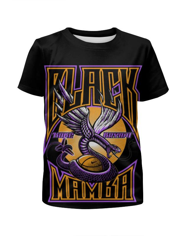 Футболка с полной запечаткой для мальчиков Printio Black mamba футболка с полной запечаткой для мальчиков printio braaaaatnsssss