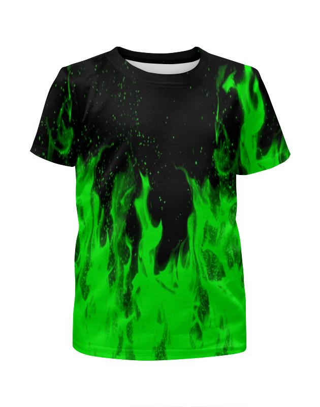 Футболка с полной запечаткой для мальчиков Printio Огонь футболка с полной запечаткой для девочек printio синий огонь