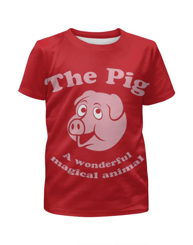 Футболка с полной запечаткой для мальчиков Printio The pig футболка с полной запечаткой для мальчиков printio кошечка