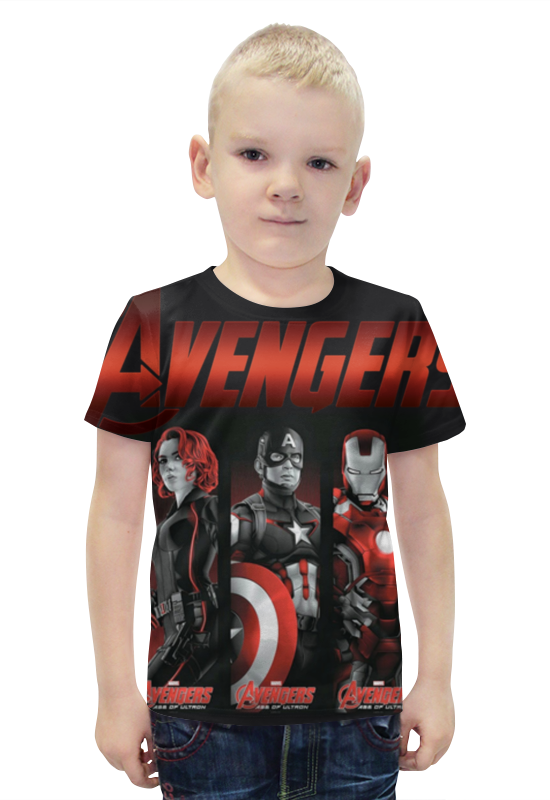 Футболка с полной запечаткой для мальчиков Printio Avengers age of ultron