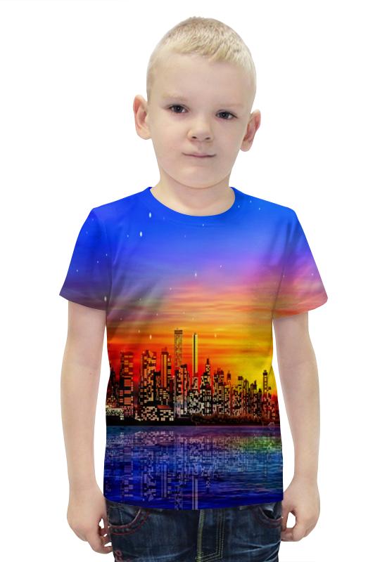 Футболка с полной запечаткой для мальчиков Printio Город футболка с полной запечаткой для мальчиков printio bats spawn arsb
