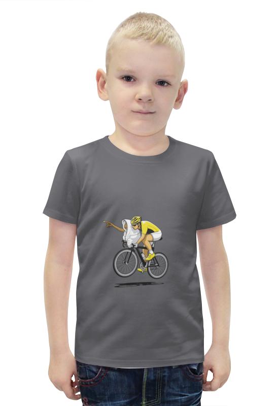 Футболка с полной запечаткой для мальчиков Printio Велосипедист футболка с полной запечаткой для мальчиков printio bats spawn arsb
