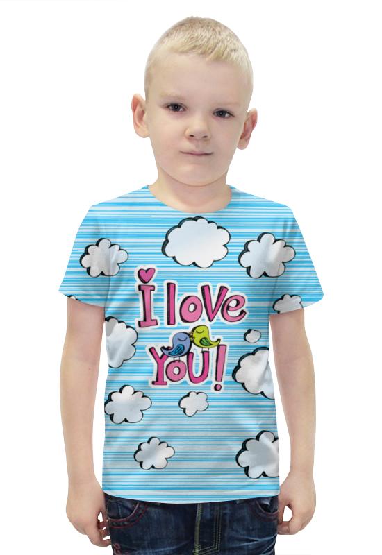 Футболка с полной запечаткой для мальчиков Printio Птички в облачках футболка с полной запечаткой для девочек printio птички