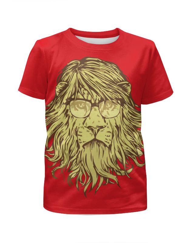 Футболка с полной запечаткой для мальчиков Printio Пафосный лев летящий лев цены на товар
