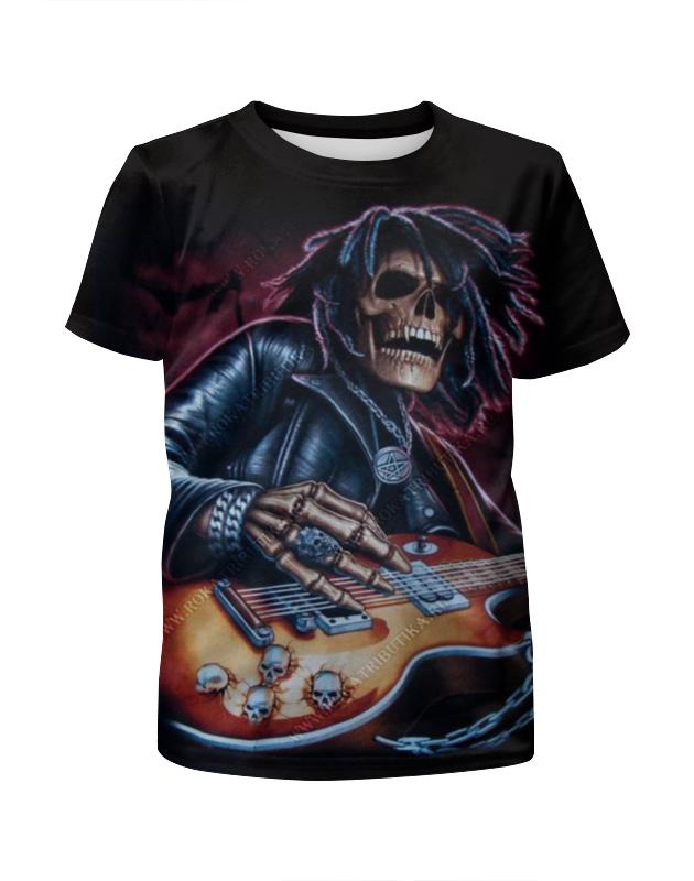 Printio Скелет с гитарой футболка с полной запечаткой для девочек printio скелет с гитарой