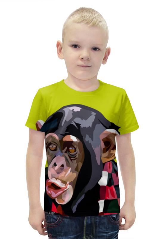 Футболка с полной запечаткой для мальчиков Printio Обезьяна футболка с полной запечаткой для мальчиков printio bats spawn arsb