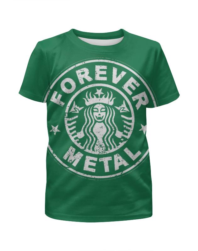 Футболка с полной запечаткой для мальчиков Printio Starbucks / forever metal skagen ремни и браслеты для часов skagen skskw6257