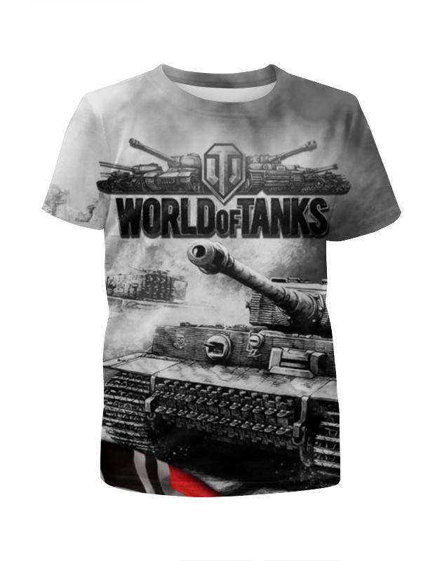 Футболка с ��олной запечаткой для мальчиков Printio World of tanks